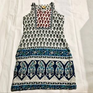 I'effet! Beach Coverup Blue, White and Red Dress